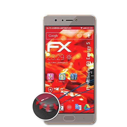 atFolix Schutzfolie kompatibel mit Allview P9 Energy S Folie, entspiegelnde & Flexible FX Bildschirmschutzfolie (3X)