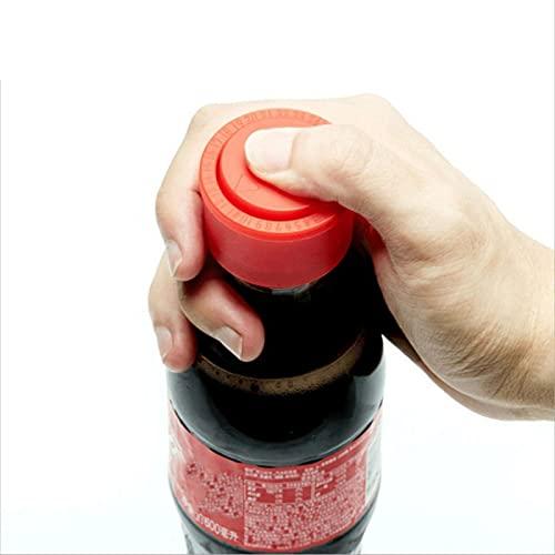 HUANGDAN 2PcsTapón de presión de Botella de refresco Tapa de Agua de Vino Reutilizable Tapa Fresco Tapa de Botella de Bebida carbonatada Tapón de Tapa aireado para Amantes de la Bebida