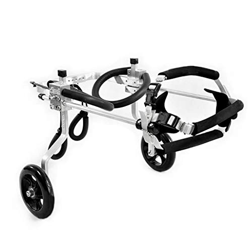 Silla de ruedas para perros ajustable Perro en silla de ruedas 2 ruedas de las patas traseras del perro del gato del animal doméstico de ruedas Hind pierna Rehabilitación for el comportamiento del ent