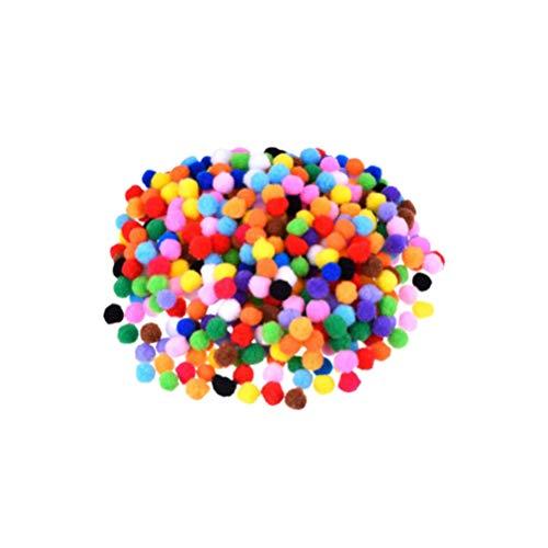 Healifty Bolas de pompones de colores bolas de guirnaldas de bricolaje bolas de juguete de felpa para sombrero de bufanda artesanía