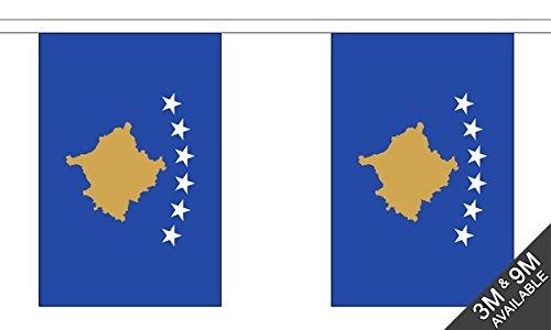 Kosovo Bunting (30 vlaggen) 9m