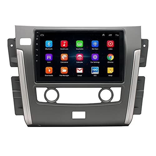 TIANDAO Android 10.0 Radio Satelital para Automóvil Reproductor Multimedia Autoradio 2.5D Navegador GPS para Nissan Patrol 2010-2017 Soporte WiFi Bluetooth/Control del Volante(Color:WiFi 4G+64G)
