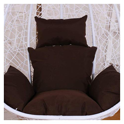 DYYD Egg Chair Cushion Egg Chair Seat Cushion, Swing Chair Cushion, Thick Nest Comfort Removable Hanging Egg Hammock Chair Cushions Without Stand with Pillow (Color : Brown)
