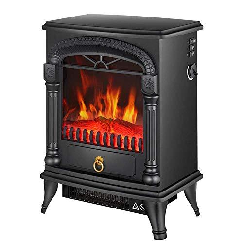 WYZXR Chimenea empotrada Calefacción Inteligente Chimenea Decorativa para el hogar - Estufa eléctrica portátil con Efecto de leña - Chimenea Interior 2000W