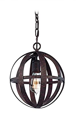 Troy Lighting Flatiron 12-Light Pendant - Weathered Iron Finish