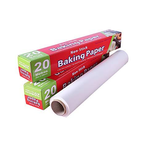 Eco Memos Rouleau de Papier Parchemin 30CMx20M Papier de Cuisson pour la Cuisson, Friteuse à Air, Grille à Griller, Four - Papier Parchemin Plat Résistant Parchemin de Cuisson Antiadhésif (20M)