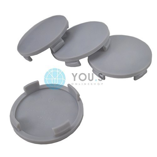 2 x Nabenkappen Nabendeckel Felgendeckel Träger Grau Aussen 60,0 mm Innen 55,0 mm ATS RIAL ALUTEC
