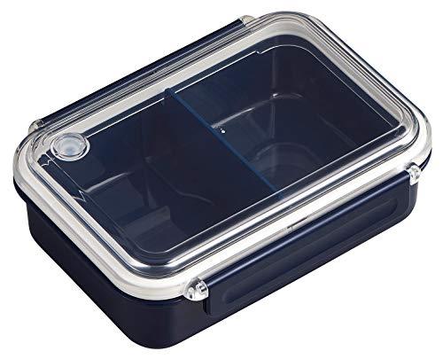 OSK 弁当箱 まるごと 冷凍弁当 ネイビー 500ml タイトボックス (仕切付) (日本製) PCL-1S