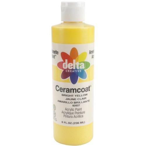 Plaid Delta Ceramcoat Peinture Acrylique 8oz-Bright Jaune – Transparent, d'autres, Multicolore
