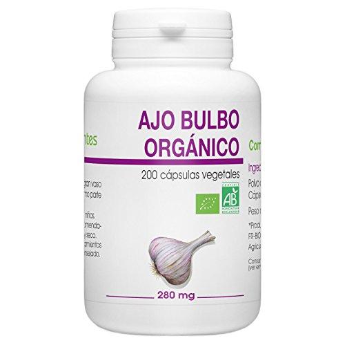 Ajo Bulbo Orgánico - 280 mg - 200 cápsulas vegetales