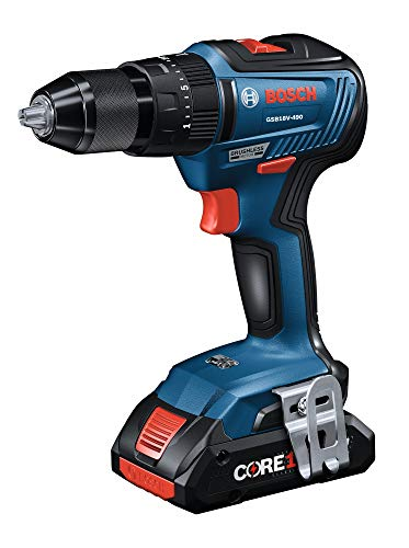 Bosch GXL18V-233B25 18V 2-Tool Combo Kit with 1/2 In. Hammer Drill/Driver, Freak 1/4 In. and 1/2 In. Two-in-One Bit/Socket Impact Driver and (2) CORE18V 4.0 Ah Compact Batteries