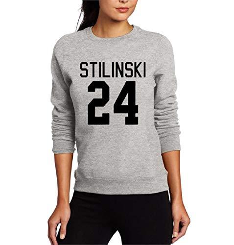KIRALOVE Sweatshirt Frau Stilinski 24 Frau - Unisex mädchen Geschenkidee - grau - größe l
