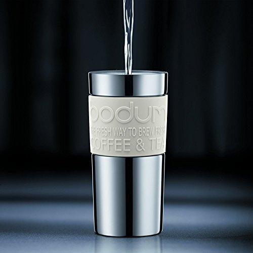 Bodum BODUM ボダム TRAVEL PRESS SET マグ用リッド付コーヒーメーカー 350ml オフホワイト K11067-913