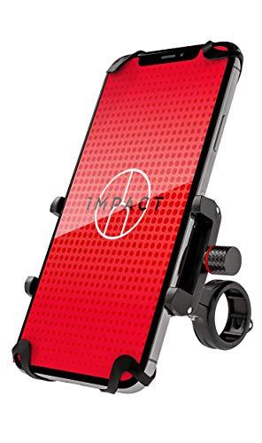 Impact Pro Mount 360° - Extrem stabile Fahrrad & Motorrad Handyhalterung aus Metall - mit 360° Kugelgelenk & Sicherheitsgummi - Universal Handyhalterung Fahrrad & Motorrad - Handy Fahrradhalterung