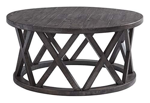 Signature Design by Ashley - Sharzane Round Sofa Table, Grayish Brown