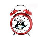 Niño Retro Clásico Aguja Doble Campanas Anillando Despertadores Vintage Relojes Despertadores Decoración del Hogar Relojes de Escritorio Rojo Divertido Enfermería Linda Pingüino Enfermera