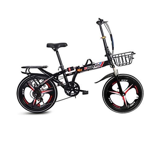 Best Bargain Kids' Tricycles Bicycle Variable Speed Dual Disc Brake Bicycle Folding Bicycle Ultra Li...