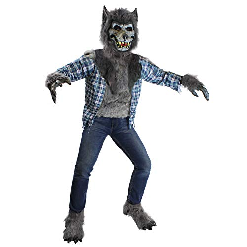 Spooktacular Creations Werewolf Costume (Extra Large (12-14yr)) Gray