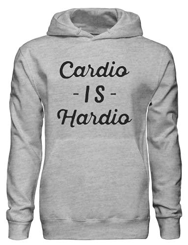 Cardio is Hardio Sudadera con capucha bnft, gris, S