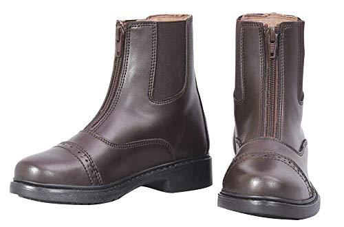 TuffRider Children's Starter Front Zip Paddock Boots, Mocha, 12