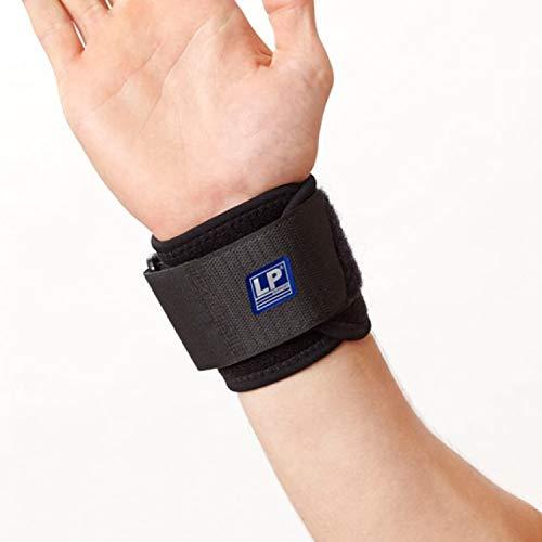 LP Support 753-KM atmungsaktive Handgelenk-Bandage - für Damen & Herren - Wrist-Wraps für Powerlifting, Bodybuilding, Kraft-Sport, Größe:Universalgröße, Farbe:1 x schwarz