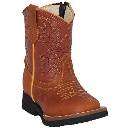 Kids Cowboy Boot Infant Toddler Western Boot (4 Infant, Hoeny)