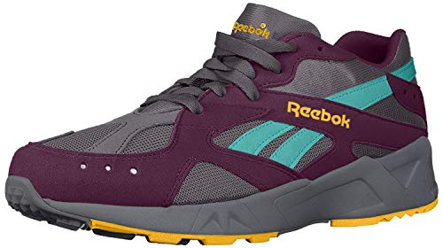 Reebok Unisex Adult's AZTREK Shoes, True Grey/Urban Violet/Yellow/Teal/Lime, 5.5 M US