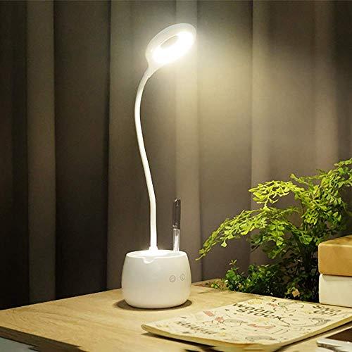 L.W.S Lámpara de Escritorio Portalápices lámpara Escritorio Estudiante Dormitorio Recargable Aprendizaje para Llevar a los ni?os a Leer lámpara Creativa 10 * 42 cm (Color:B) (Color : A)