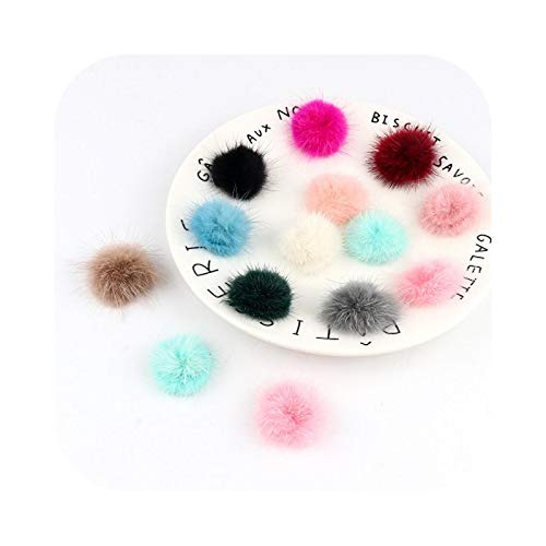 Pompom Pom Pom 10 Pieces/Set 3 cm Fur Balls 30 mm Mini DIY Pompom for Hats, Scarves, Keyrings, Random Mix 10 Pieces