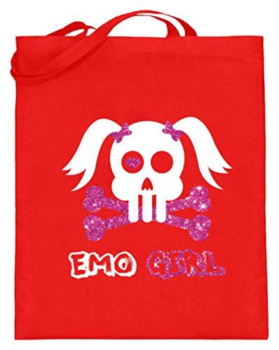 Emo Girl - Punk, Rock, Hardcore-Punk, Emotional Hardcore, Mode, Haar, Musikgenre, Jugend - Jutebeutel (mit langen Henkeln)