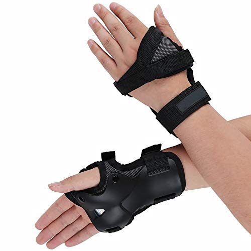 Wrist Guards with Palm Protection Pads. Single-Sided Palm Guard.Protective Gear for Skateboarding/Longboarding/Roller Blading/Inline Skating. for Adults and Kids.