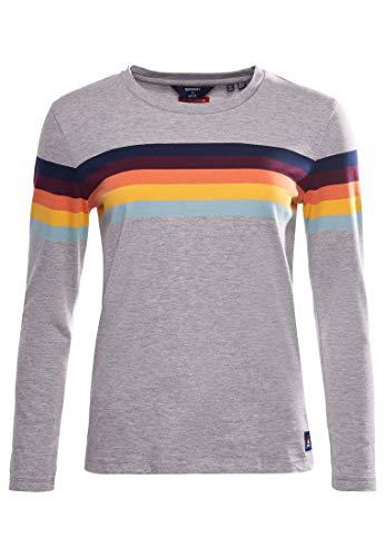 Superdry Womens W6010799A T-Shirt, Light Grey Marl, S