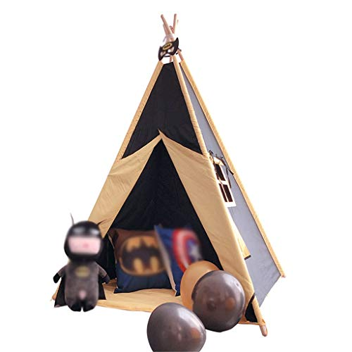 Tents Boy's Indian, Indoor Playhouse for Living Room, Parent-child Interactive Teepee with Mat - Kindergarten (Size : 110 * 110 * 160CM)