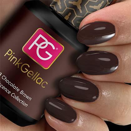 Pink Gellac UV Nagellack 203 Chocolate Brown. Professionelle Gel Nagellack shellac für mindestens 14 Tage perfekt glänzende Nägel