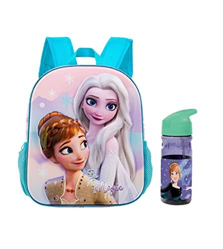 RSL Mochila infantil Frozen con botella de agua. Mochila escolar