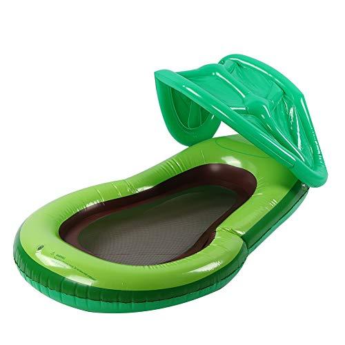 Alomejor1 Flotador Inflable de Aguacate para Piscina, Fila de PVC para Niños Adultos, Juguete con Toldo, Sombrilla, Silla