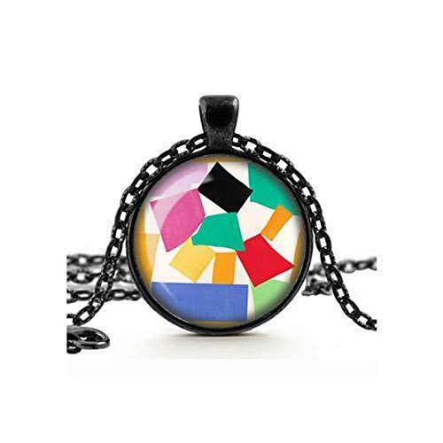 Heng Yuan Tian Cheng, Halskette, Glas-Kamee, Cabochon, Kunstschmuck, handgefertigte Halskette