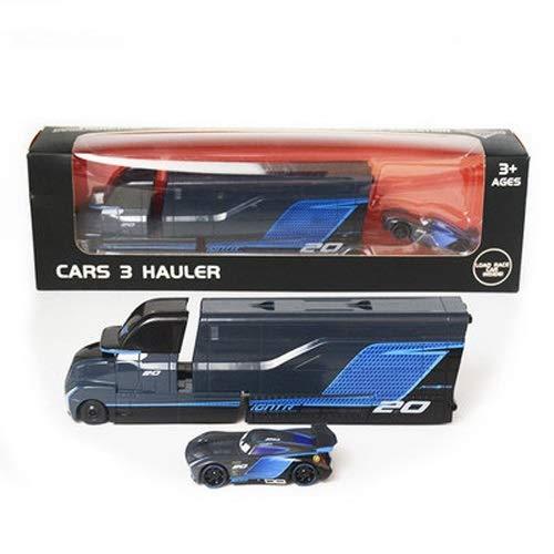 Lihgfw Boxed Rennwagen Geschichte Blitz Spielzeug-Auto-Modell-Set Black Storm Container-Legierung Auto for Kleinkind-Jungen und Mädchen (Color : Schwarz)