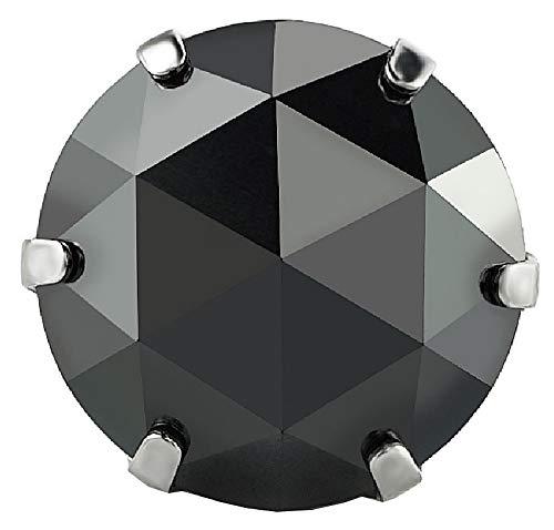 pi0527 [ブランド名:2PIECES] ジュエリー 片耳用ピアス メンズ ダイヤモンド ブラックダイヤ シンプル 片耳用売り