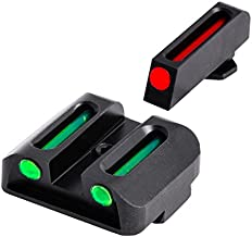 TRUGLO Fiber-Optic Front and Rear Handgun Sights for Glock Pistols, Glock 17 / 17L, 19, 22, 23, 24, 26, 27, 33, 34, 35, 38, and 39, Black, One Size (TG131G1)