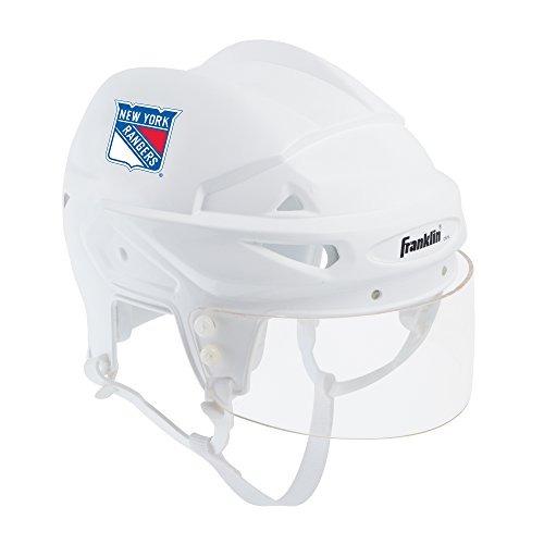 Franklin Sports New York Rangers Mini Player Helmet - White Helmet w/Player Number Stickers - Great for Autographs - NHL Official Licensed Product