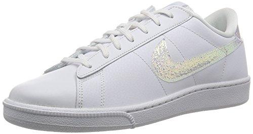Nike Wmns Tennis Classic PRM, Zapatillas de Tenis para Mujer, Blanco (Blanco (White/White-Black), 38 1/2 EU