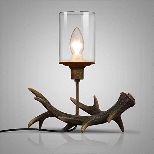 DSJ retro antieke slaapkamer restaurant gepersonaliseerde carving romantische wind kaars tafellamp