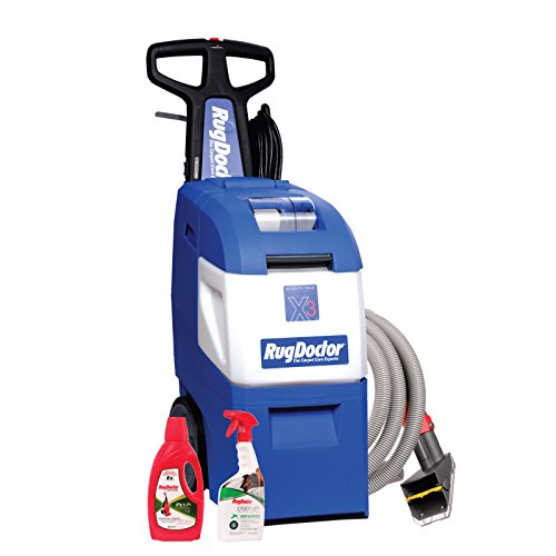Rug Doctor Mighty Pro X3 Pet Pack commercial Carpet cleaner, Consumer Family, Blue