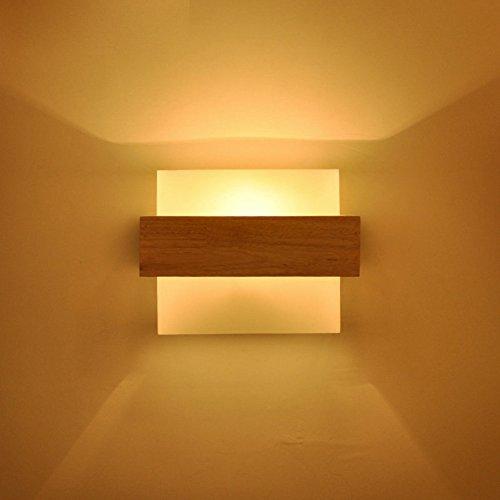 Minimaliserende lamp moderne, glasheldere tinten houten wandlampen E27 peer sokkel slaapkamer woonkamer hoofdbord wastafel led natuurlijke materialen