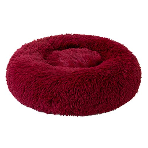 Akabsh Dog Bed Cat Bed Calming Dog Bed Cat Bed Donut, Winter Warm Sleeping Bag Pet Bed Self-Warming Donut Cuddler,Comfortable Round Plush Dog Beds for Large Medium Dogs and Cats