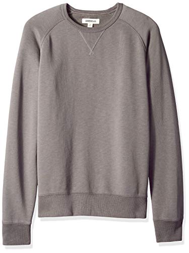Amazon Brand - Goodthreads Men's Crewneck Fleece Sweatshirt, Grey Castlerock, Large