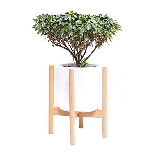 DODUOS Soporte de Planta Ajustable Soporte para macetas de Plantas de Madera Estante de Soporte para Plantas en macetas para Interiores y Exteriores