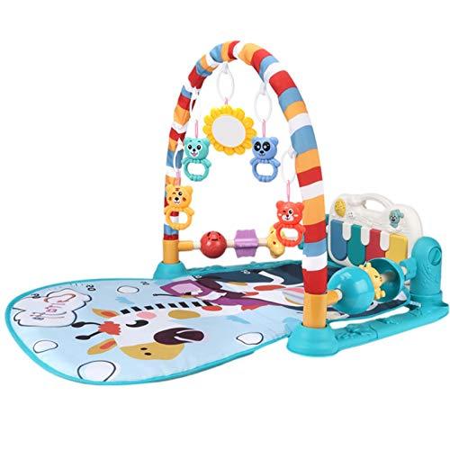 Baby Gym Play Mats, Kick and Play Piano Gimnasio Centro de actividades para bebés, Playmat de bebé con música y luces, recién nacido Bebé Playmat Baby Girl Baby Toys