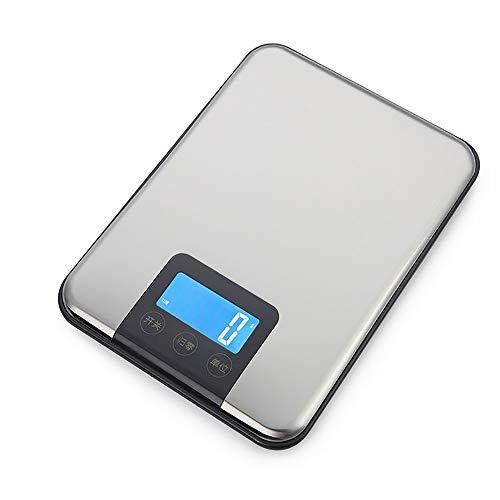 Elektronische Bilance-tafelkeukenweegschaal van roestvrij staal, voor elektronische balans, 5000 g/1 g